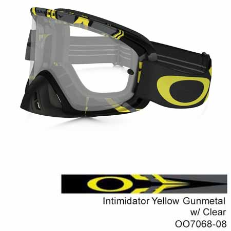 0a7a7cb143f Oakley o frame 2.0 mx goggles intimidator yellow gunmetal with clear lens