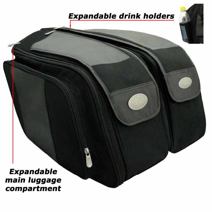 f8f88fe5fa Travel master route 66 throw over saddlebags, Travel master panniers ...