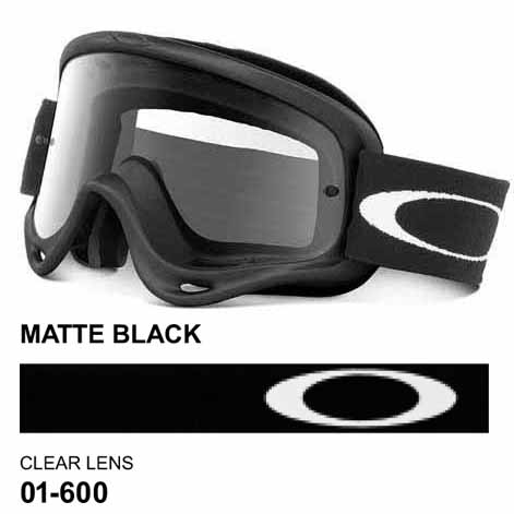 22d611becd Oakley o frame matte black mx goggles with clear lens