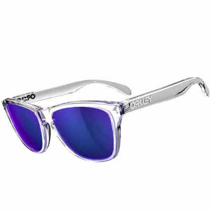 Oakley Eyeglass Frame Parts : Oakley frogskins sunglasses - polished clear frame with ...